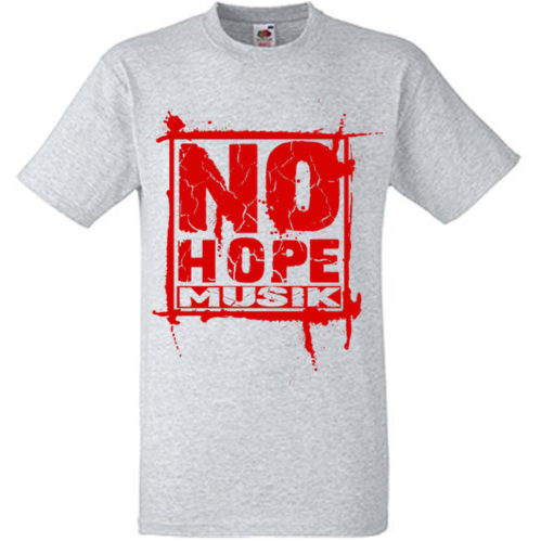 No Hope Musik Quadrat grau-rot